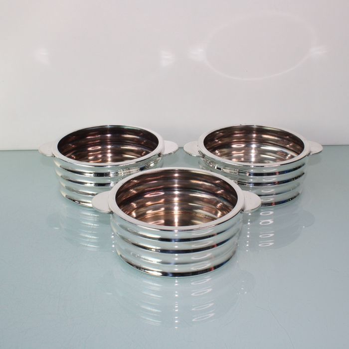 Art Deco set of 3 bottle holders coasters