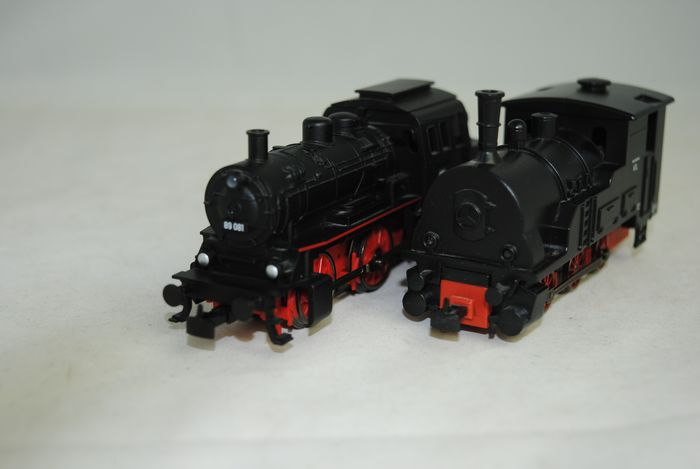 Märklin H0 - Uit set 29133/Uit set 29107 - Tender locomotive - 2 locomotives - DB