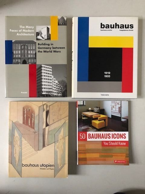 Magdalena Droste, John Zukowsky - Lot with 4 books on Bauhaus & Weimar Architecture - 1988/2018