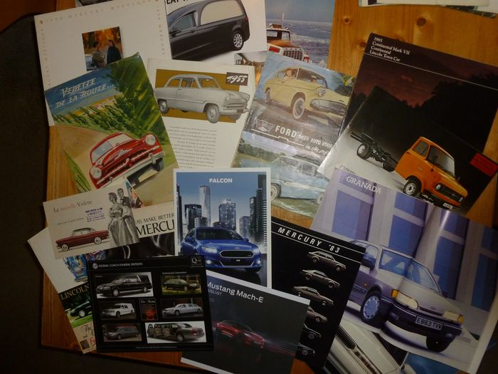 Broschüren/ Kataloge - 17 different Ford, Lincoln and Mercury brochures 1950'5 - 2000's - Ford, Ford USA, Lincoln, Mercury