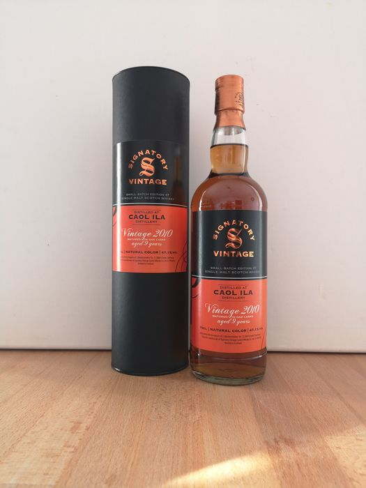 Caol Ila 2010 9 years old Small Batch Edition #7 3x Refill Hogshead & 2x Refill Sherry Butt - Signatory Vintage - b. 2020 - 70cl - 1 bottles