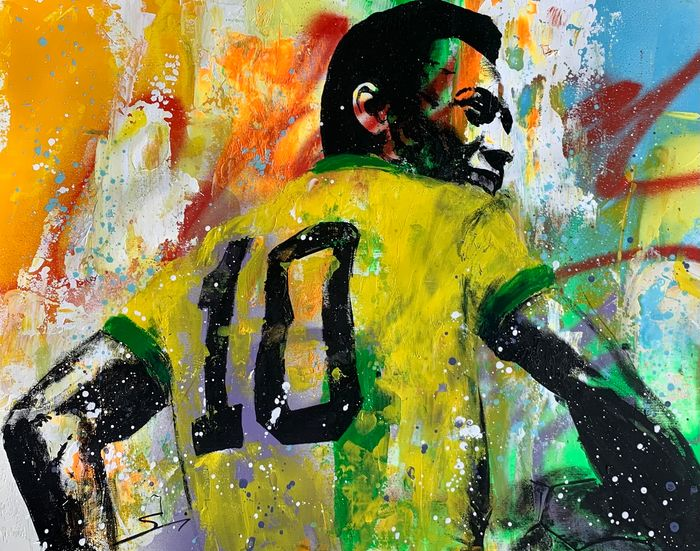 Brazil National Football Team - Campionati mondiali di calcio - Pelé - 2020 - Opera d'arte