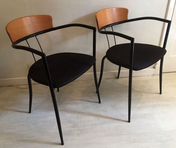 Two Italian design chairs from the 1980s
