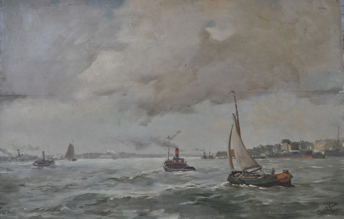 Corn v.d.Zwalm (1884-) - Boats on the water