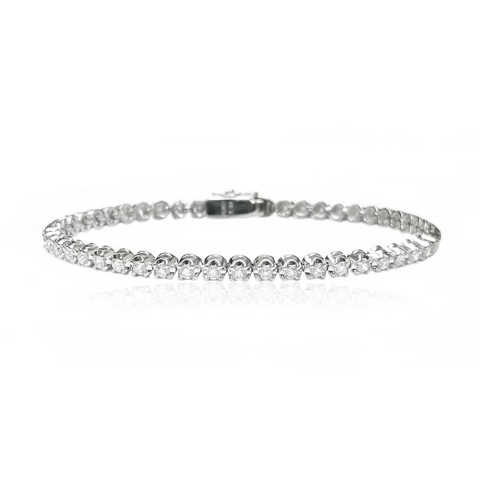PT850 Witgoud - Armband - 2.00 ct Diamant
