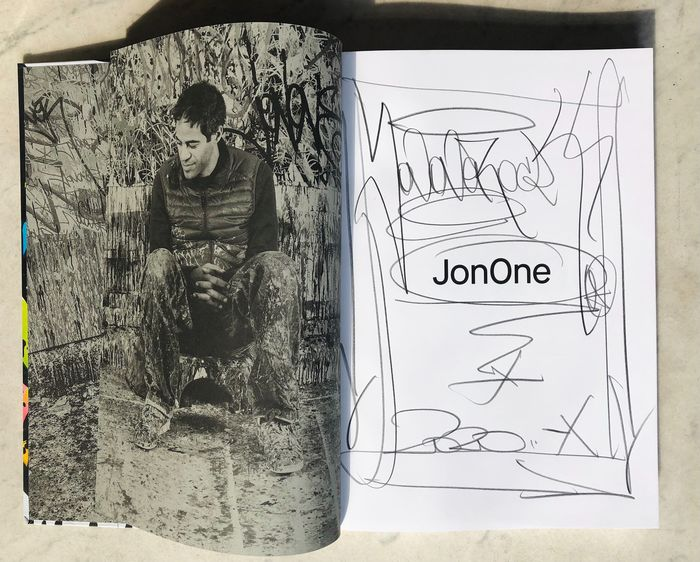 JonOne  [with original signed drawing] - 2020 - 2020