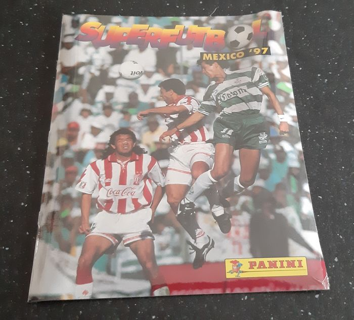 Panini - Super Futbol Mexico 97 - Fabriekszegel (leeg album + complete losse stickerset) - 1997