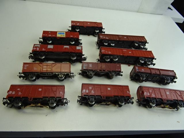 Märklin H0 - Freight carriage - 11 brown freight cars - DB