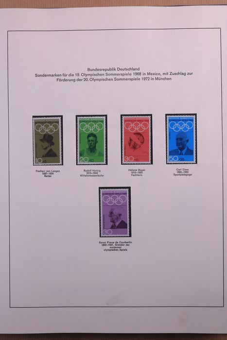 Germania - repubblica federale 1972/1993 - Collection of FDcs/covers in five albums