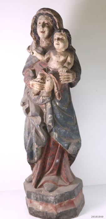 Large statue of Mary with child - solid wood