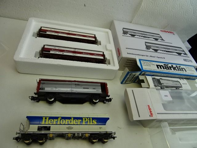 Märklin H0 - Freight carriage, Freight wagon set - 4 different cars - DSB