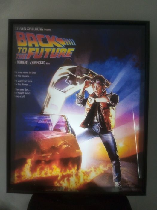 Ritorno al futuro - 1 - Poster, Print of the famous Drew Struzan art in a Light Box (50 x 40 cm)