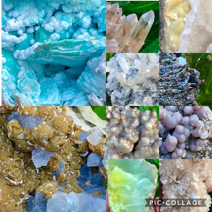 Beautiful colorful collection of minerals - 200×125×125 mm - 4749 g - (10)