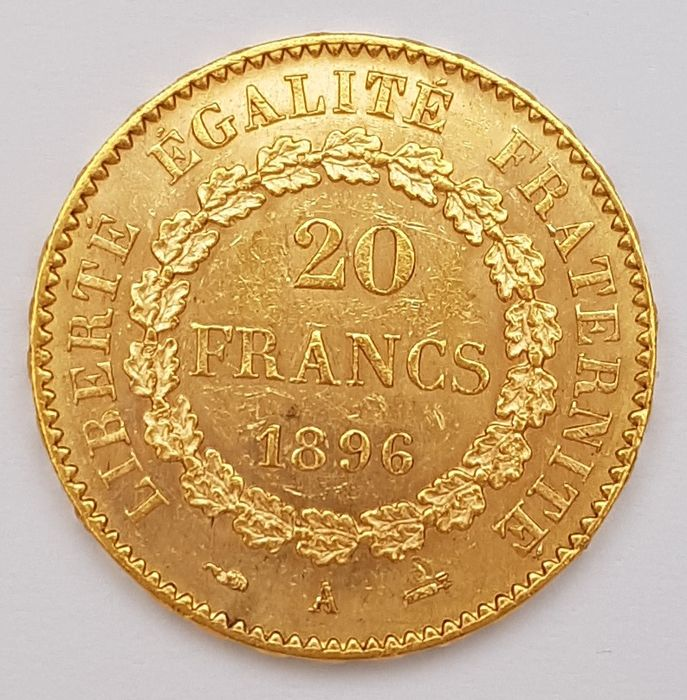 France - 20 Francs 1896-A Genius - Or