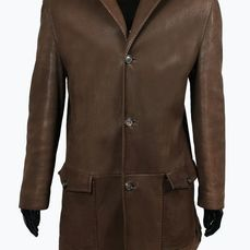 Ermenegildo Zegna - Jas, Lambskin Leather Coat