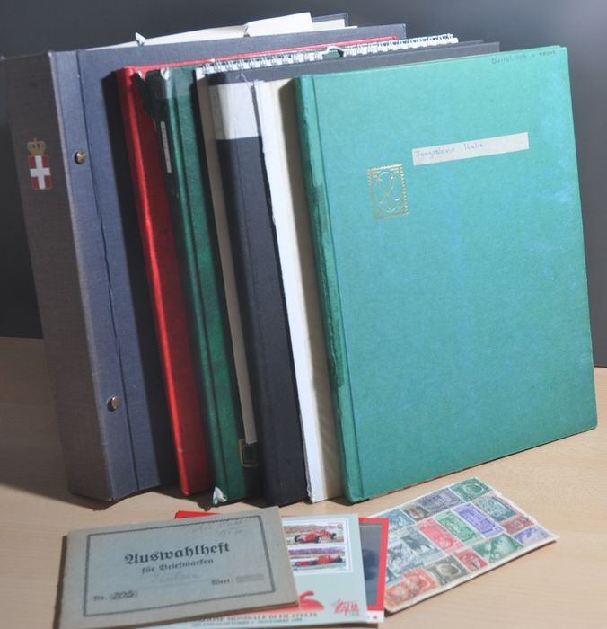 Italy - Batch in several stock books, on album pages and more