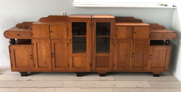 2 Mirrored Art Deco sideboards (2)