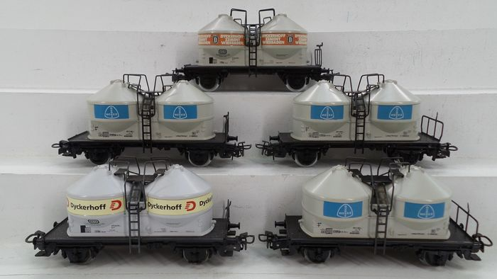 Märklin H0 - 4661/4761 - Freight carriage - 5 Two-axle silo wagons - DB