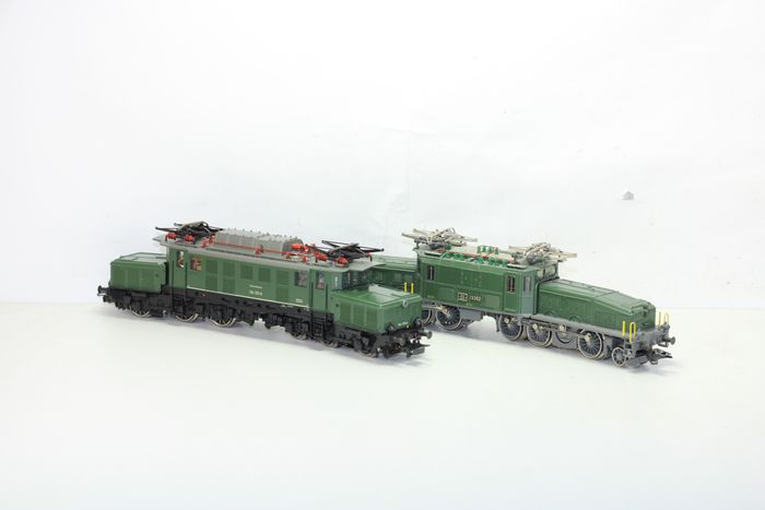 "Märklin H0 - 3300 - Electric locomotive - Set of 2 ""Crocodiles"", anniversary edition; Be 6/8 III and BR 194 - DB, SBB"