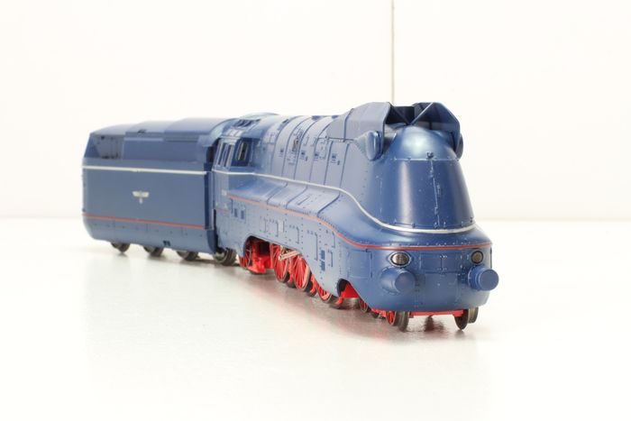 Märklin H0 - 3489 - Steam locomotive with tender - 03.10 series in steel blue livery with silver and red decorative lines - DRG