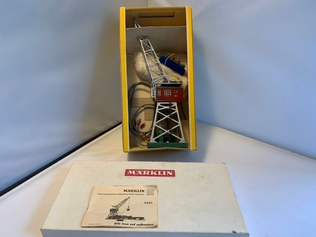 Märklin H0 - 7051 - Attachments - Multifunctional lifting crane, complete with hook, lifting magnet and control box - (6189)