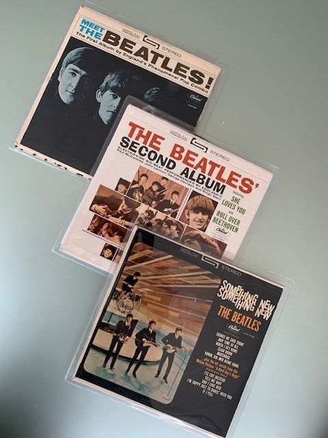 """Beatles - Multiple artists - Meet The Beatles / Second Album / Something New - Multiple titles - Book, ep 7 """"/ 33 rpm (compact) - 1964/1964"""
