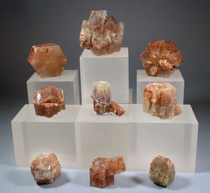 Aragonite Mineral Collection - 220 g - (9)