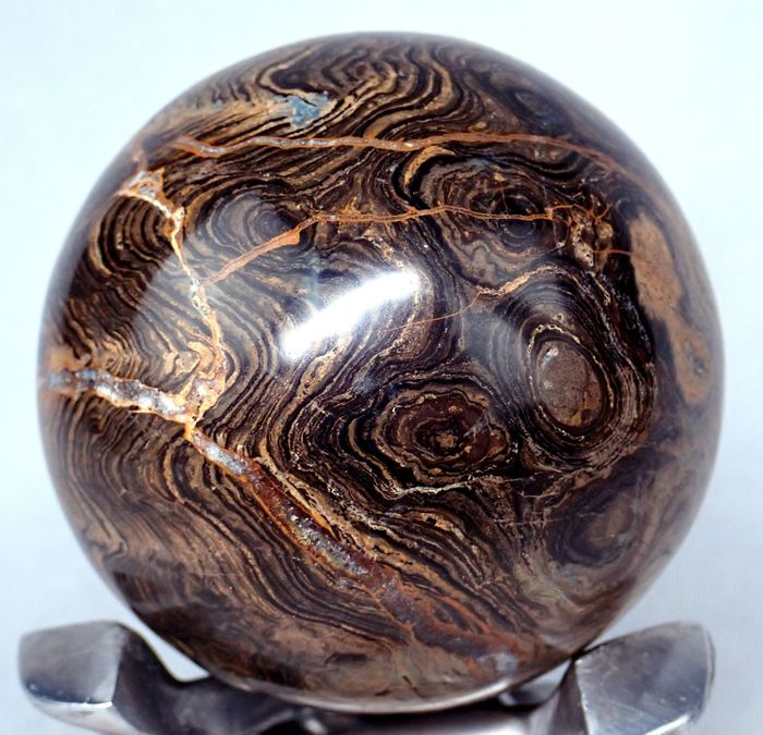 ** NEW ** Very Rare Fossilized Algae Sphere 1977ct - 66.33×66.33×66.33 mm - 395.4 g