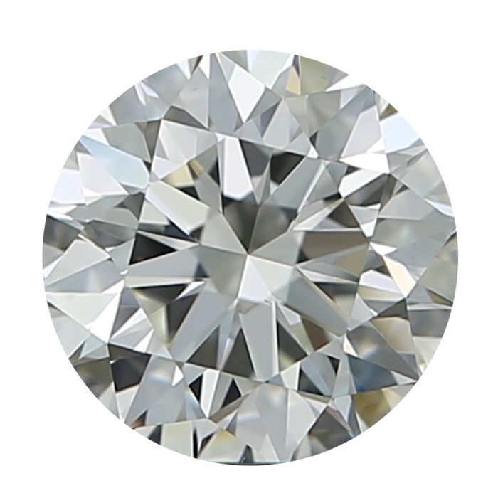 1 pcs Diamante - 0.38 ct - Redondo - I - VS1