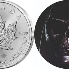 "Canada. 5 Dollars 2020 – Maple Leaf und ""Black Skull "" mit COA - 2 x1 Oz"