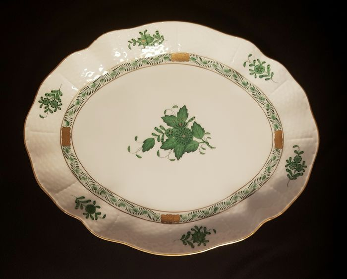 Herend - Cuenco verde Apponyi aprox.26,5 cm - Porcelana