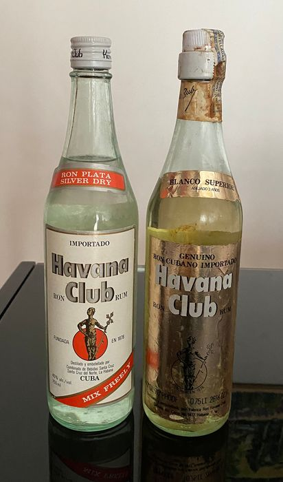 Havana Club - Ron Plata Silver Dry, Bianco Superior 3 years old - b. 1960s, 1970s - 0.7 Ltr