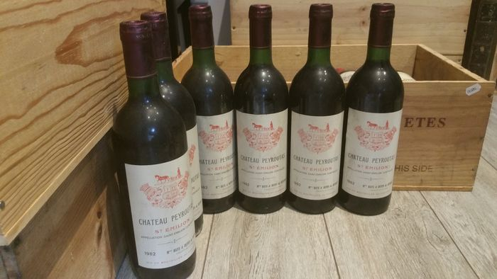 1982 Chateau Peyroutas - Saint-Emilion - 6 Bottle (0.75L)