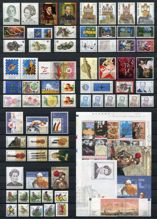 Belgium 2000 - Year collection organised on DAVO album pages