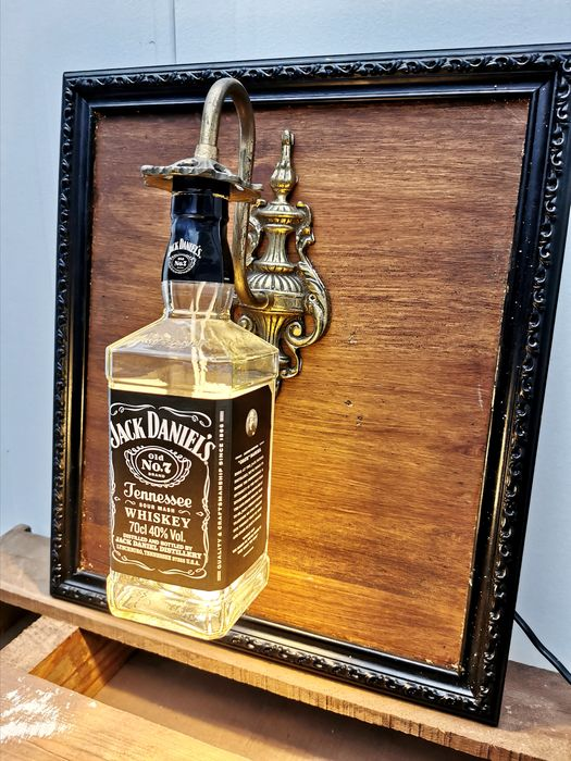 Jack Daniel's handcrafted bottle lamp - 70cl
