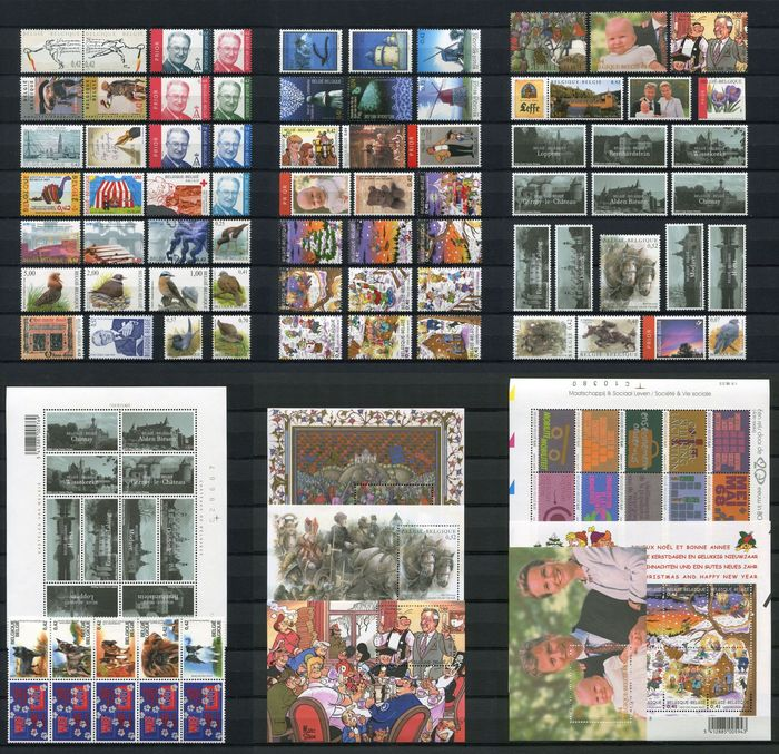 Belgium 2002 - Year collection organised on DAVO album pages