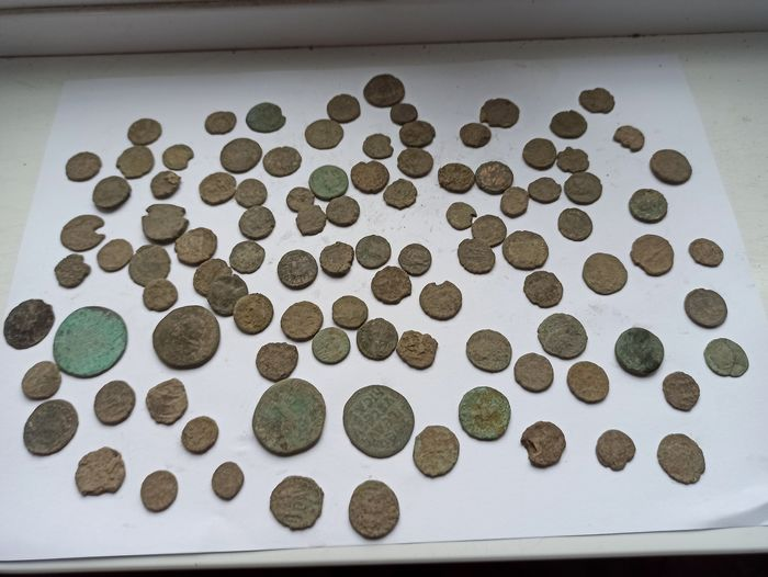 Byzantine Empire, Roman Empire. Lot of 100 Æ coins,  circa 3rd - 7th centuries AD