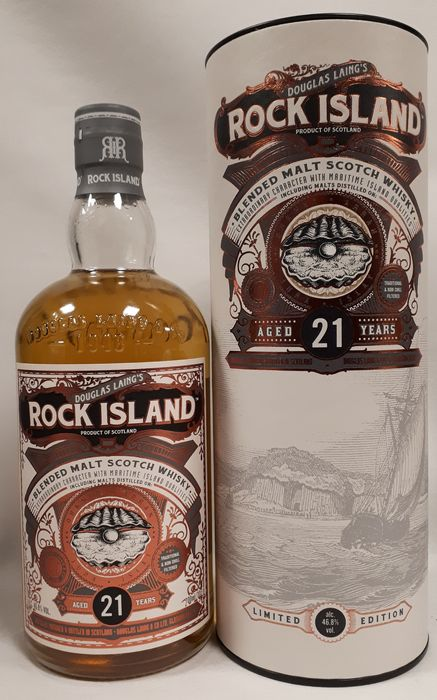 Rock Island 21 years old - Limited Edition - Douglas Laing - 700ml