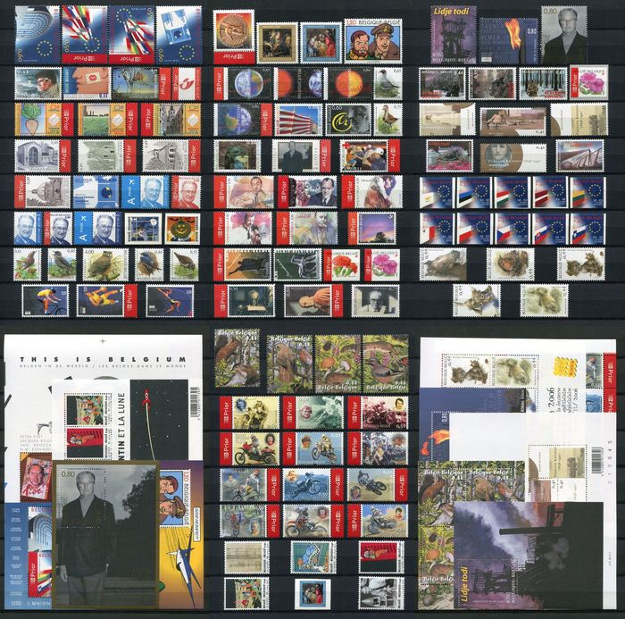 Belgium 2004 - Year collection organised on DAVO album pages