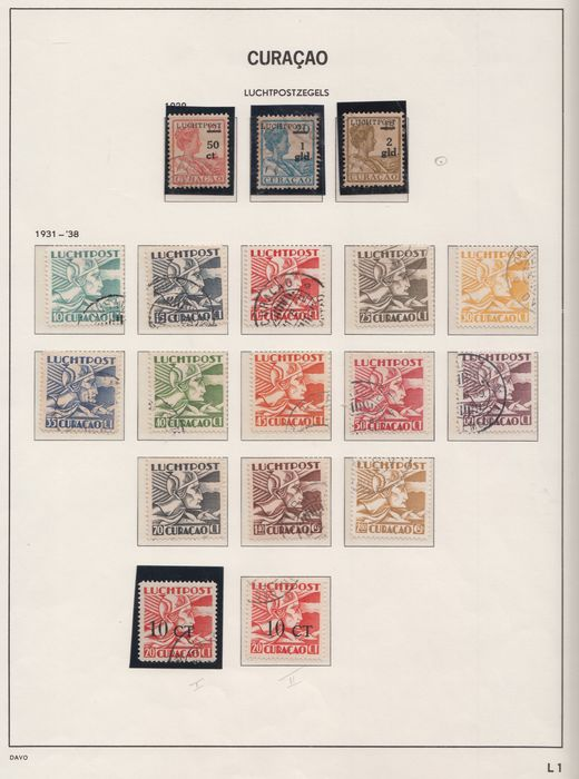 Curacao 1929/1947 - Collection of airmail stamps