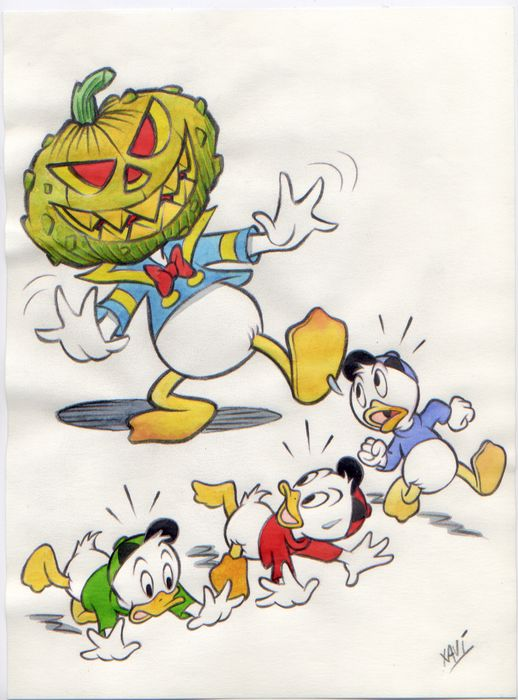 Donald Duck - Dibujo original - Halloween is coming! - (2020)
