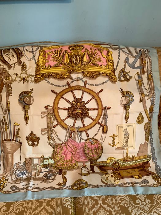 Hermès - Hermes Scarf 'Musee'' firmato Ledoux anno 1992 - Scarf