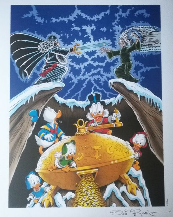 Uncle Scrooge, Donald Duck and his nephews - Hand-signed print by Don Rosa - The Quest for Kalevala - Losbladig - (2019)