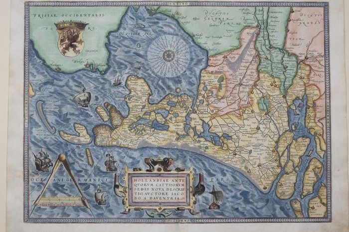 Pays-Bas, Holland; Ortelius - Hollandiae - 1572