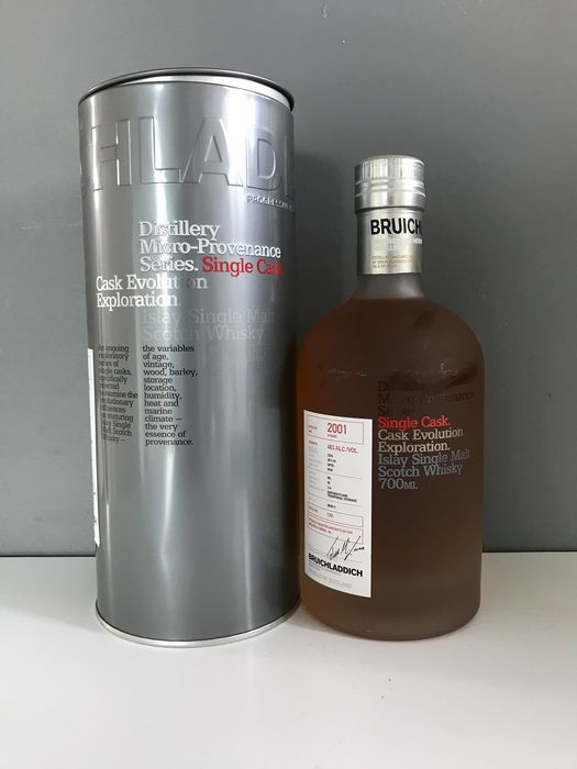 Bruichladdich 2001 9 years old Micro Provenance - Rum Cask Edition - Original bottling - b. 2011 - 70cl