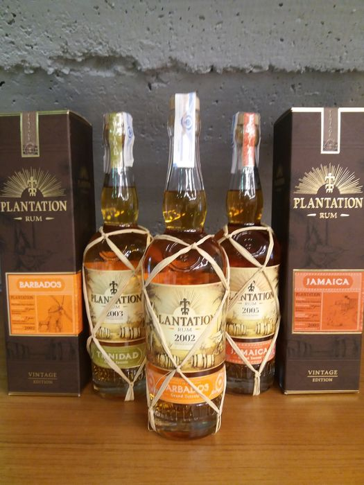 Plantation - 2002 Barbados, 2003 Trinidad & 2005 Jamaica - 70cl - 3 bottles