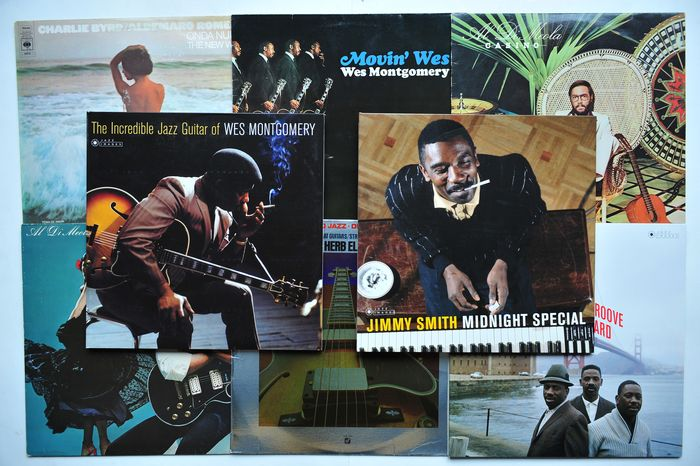 Various Artists/Bands in Jazz - Diverse Künstler - Wes Montgomery, Charley Byrd, Al di Meola, Jimmy Smith e.a. - Diverse Titel - LP's - 1972/2018