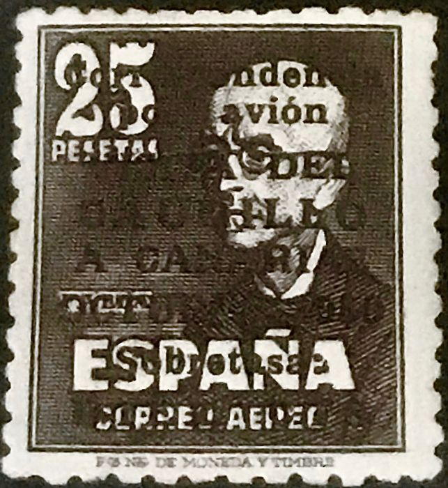 Spanien 1950 - 'Visita del Caudillo a Canarias' (Visit of Franco to the Canary Islands), without control number. Comex certificate. - Edifil 1083