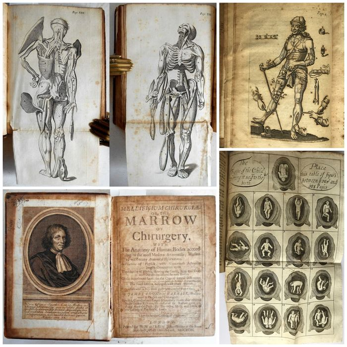 James Cooke - Mellificium Chirurgiæ: or The Marrow of Chirurgery Medicine Aphorisms Surgery Physick 9 Plates - 1693