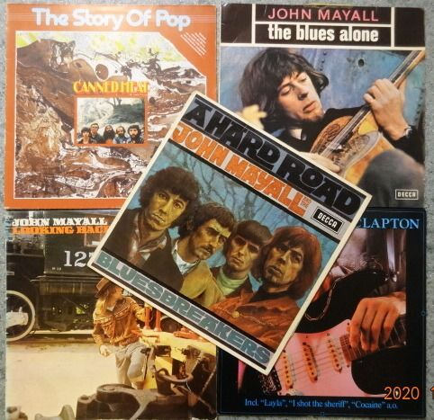 Various Artists/Bands in Blues, John Mayall, Canned Heat, Eric Clapton, Canned Heat, Peter Green. - Multiple artists - 5 x LP with the greatest of Blues-Rock. - Multiple titles - LP's - 1967/1982